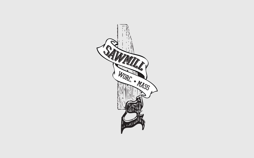 Apparel design for Worcester, MA band, Sawmill.